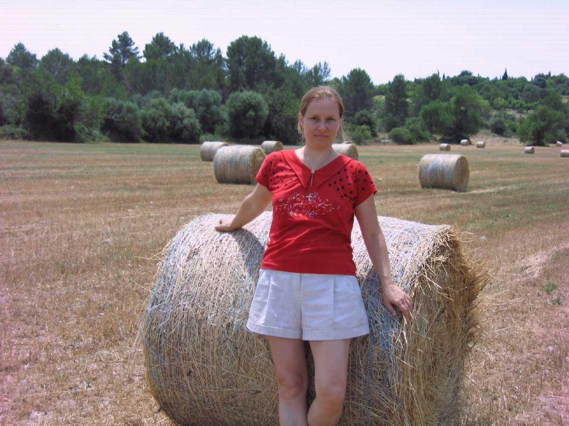 поля, стога сена